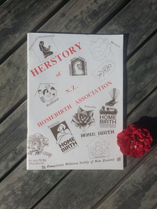 Front cover of the Herstory of NZ Homebirth Association book