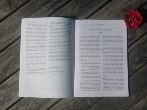 Inside pages of the Herstory of NZ Homebirth Association book